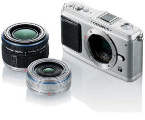 Olympus E-P1 con lentes