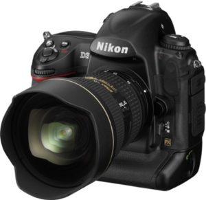 Camara Nikon SLR D3S tres